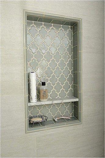 Master bathroom shelf. Like the tile #bathroomrenovations