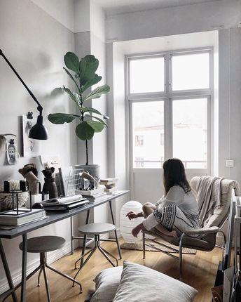 Scandinavian work room.