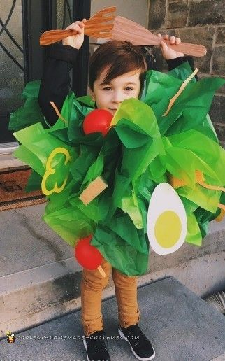 Deliciously Healthy DIY Salad Costume for my Nephew