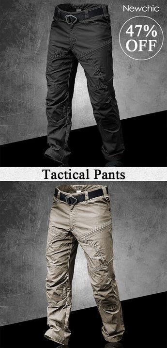 [47%off]Mens Outdoor Muti-Pockets Pants Water-repellent Tactical Pants Military Training Pants #mens #outdoor #pants