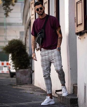 15 Checkered Patterned Pants Outfits : Honcho Lifestyle