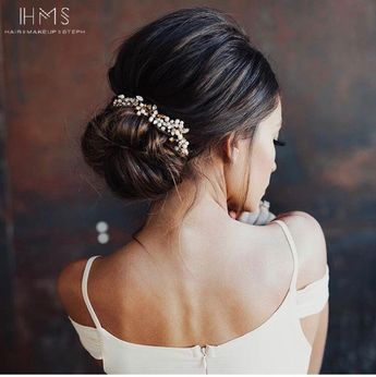 Gorgeous bridal updo  #hair #wedding #bridal #bride #updo #romantic #inspiration #specialoccasion #homecoming #prom #bridesmaid