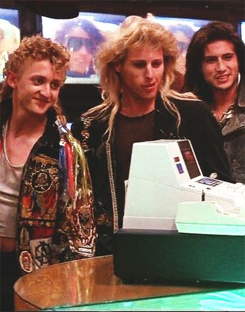 Still of (left to right) Alex Winter, Brooke McCarter and Billy Wirth in The Lost Boys (1987)