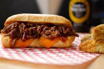 Slow cooker Whiskey BBQ Beef Tenderloin Sandwiches