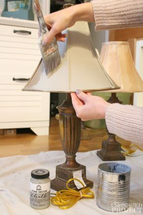 How to Paint a Lamp Shade with Chalk Paint