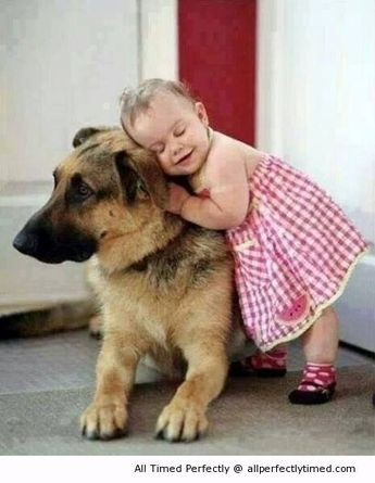 Compassion starts early in life – How adorable to have a nice warm hug? | All Perfectly Timed