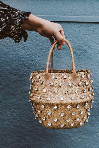 DIY Crystal Studded Straw Bag – Honestly WTF