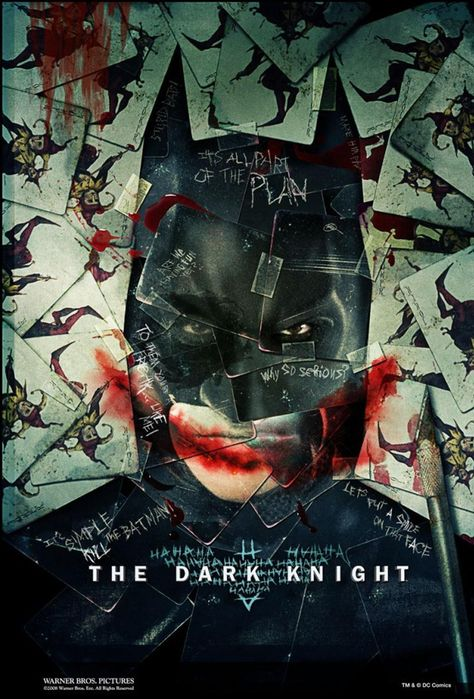 Framed dark knight movie poster 24 x 36