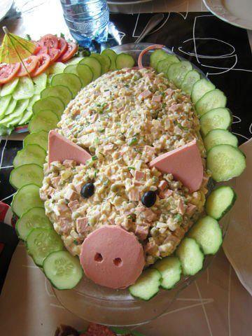 Как оформить салаты рецепты с