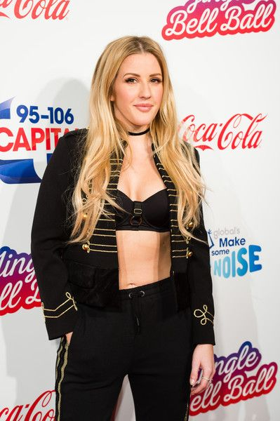 Ellie Goulding attends Capital's Jingle Bell Ball in London.