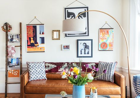 Great Gallery Wall - A Facebook Creative Director's Art Filled Home - Photos