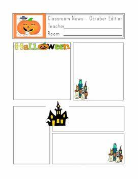 free editable teacher newsletter template by mrs magee tpt 6065714 chesslinksinfo