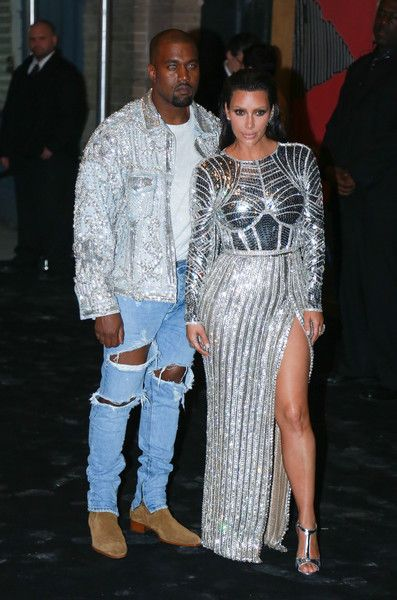 """Kim Kardashian Photos - Kanye West (L) and Kim Kardashian attend the afterparty for """"Manus x Machina: Fashion In An Age Of Technology"""" Costume Institute Gala at The Gilded Lily on May 2, 2016 in New York City. - 'Manus x Machina: Fashion in an Age of Technology' Costume Institute Gala - After Parties"""