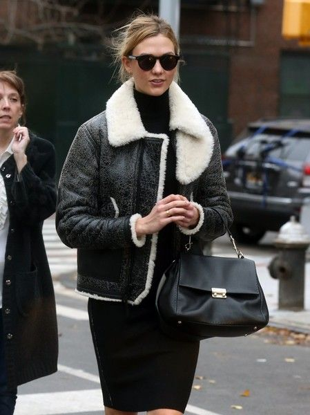 Model Karlie Kloss is spotted hailing a cab while out and about in New York City.