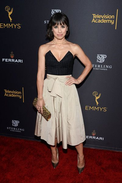 Actress Constance Zimmer arrives at the Television Academy's Performers Peer Group Celebration at Montage Beverly Hills.