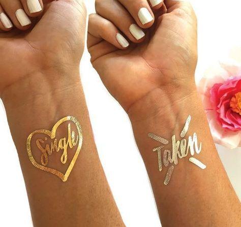 Bachelorette Babes - Festival Ready Flash Tattoos - Gold and Glamorous Ideas - Photos