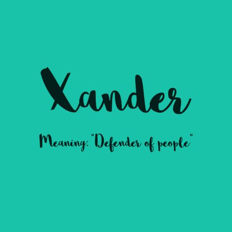 Xander - European Boy Names That Are On the Rise  - Photos