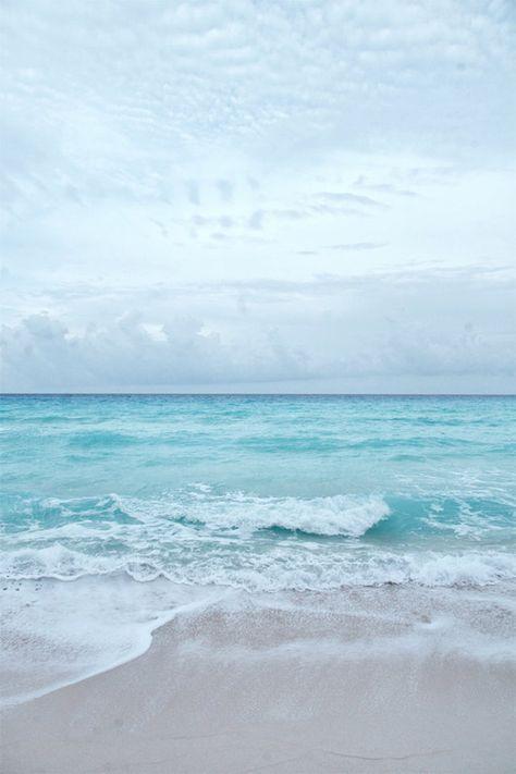 Beach Photography, Ocean Sea Summer, Aqua Blue Beach, Seashore Horizon, Surf Decor, Waves Crashing Onshore, Ocean Art, Seascape Art