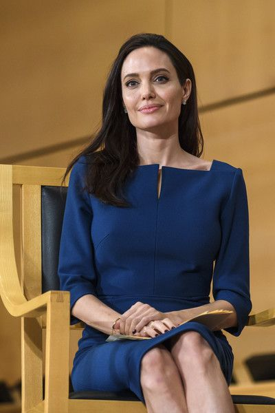 US actress and United Nations High Commissioner for Refugees (UNHCR) special envoy Angelina Jolie attends the annual lecture of the Sergio Vieira de Mello Foundation at the United Nations (UN) office in Geneva.