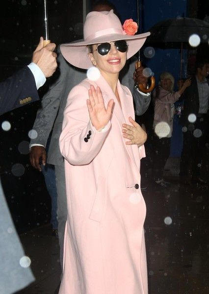 Lady Gaga makes an appearance on 'Good Morning America.'