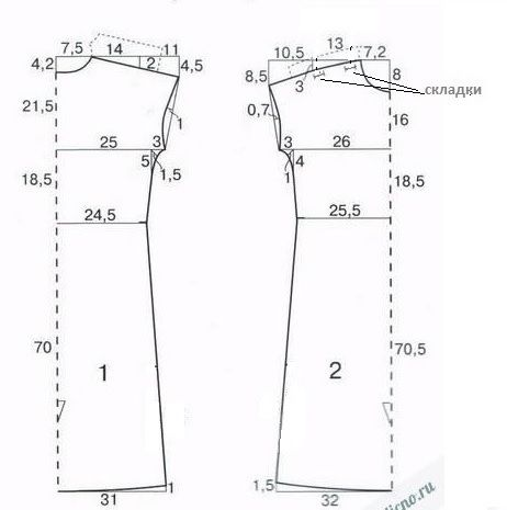 Выкройки платьев для начинающих простые выкройки 44 размера