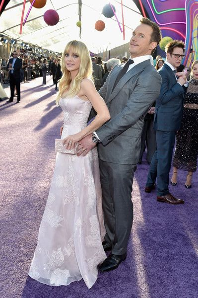 Actor Anna Faris and Chris Pratt at the premiere of Disney and Marvel's 'Guardians of the Galaxy Vol. 2.'
