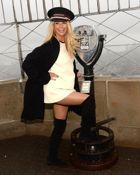 "Christie Brinkley Visits The Empire State Building To Celebrate ""Give A Smile, Get A Smile"" Launch"