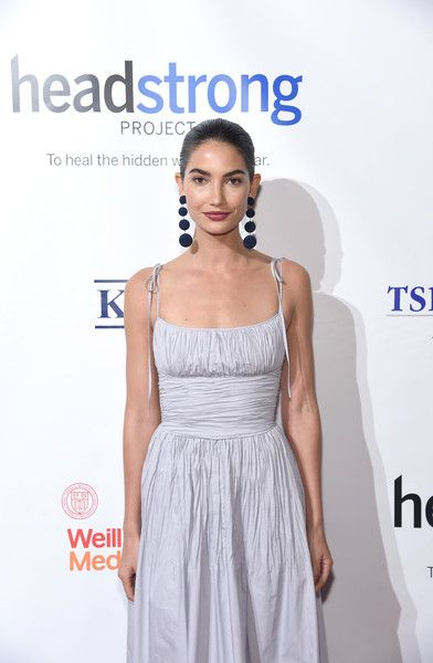 Model Lily Aldridge attends the Headstrong Project's Words of War Gala.