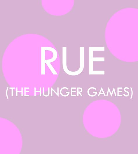 Rue - Pop Culture Baby Names for Girls  - Photos