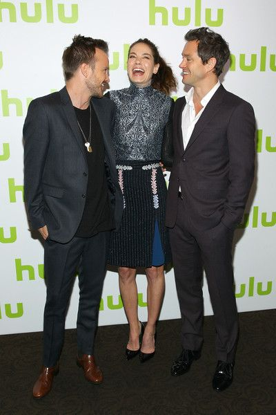 Michelle Monaghan Photos - (L-R) Aaron Paul, Michelle Monaghan and Hugh Dancy attend the 2016 Hulu Upftont on May 04, 2016 in New York, New York. - 2016 Hulu Upftont - Arrivals