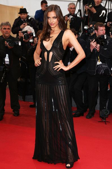 Irina Shayk in Roberto Cavalli, 2013 - The Most Daring Dresses on the Cannes Red Carpet - Photos