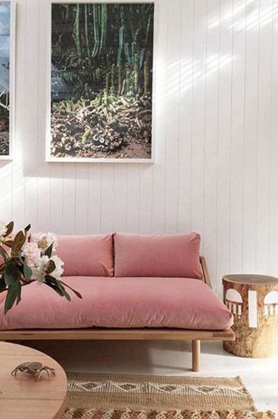 Dusty Velvet - 15 Rooms That Make The Case For Decorating With Pink - Photos