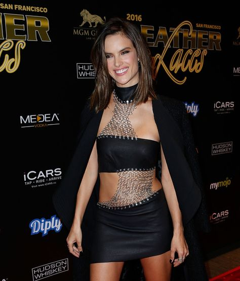 Alessandra Ambrosio attends the 13th Annual 'Leather & Laces' Mega Party at Super Bowl 50.