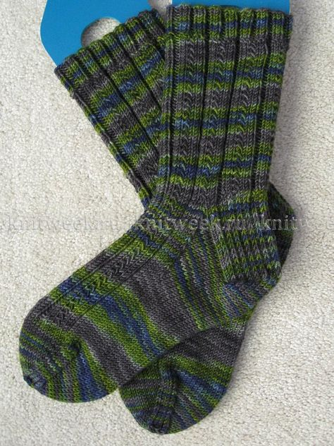 Ирландское вязание носков спицами 67