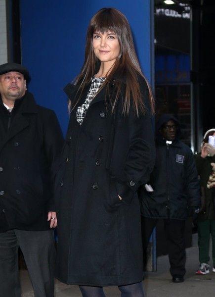 Celebrities making an appearance on 'Good Morning America' in New York City, New York on December 6, 2016. Pictured: Katie Holmes