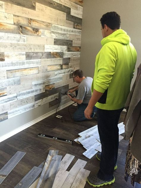 Main stickwood paneling installation on walls