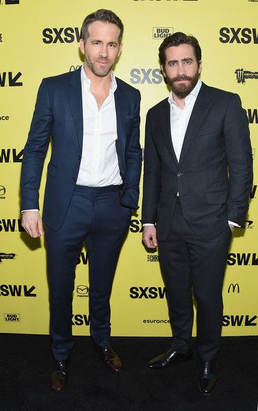Actors Ryan Reynolds and Jake Gyllenhaal attend the 'Life' premiere during the 2017 SXSW Conference and Festivals.
