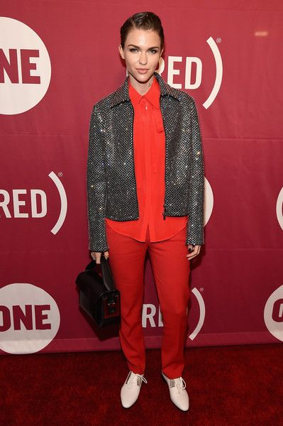 Ruby Red attends ONE and (RED)'s 'It Always Seems Impossible Until It Is Done' AIDS benefit.