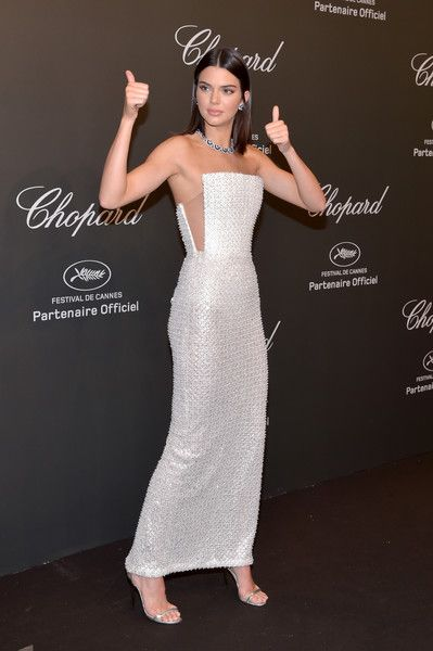 "Kendall Jenner Photos Photos - Kendall Jenner attends the Chopard ""SPACE Party"", hosted by Chopard's co-president Caroline Scheufele and Rihanna, at Port Canto on May 19, 2017, in Cannes, France. - Chopard Space Party - Photocall - The 70th Cannes Film Festival"