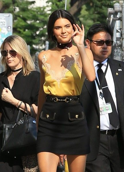 Kendall Jenner visits 'Jimmy Kimmel Live' in Los Angeles.