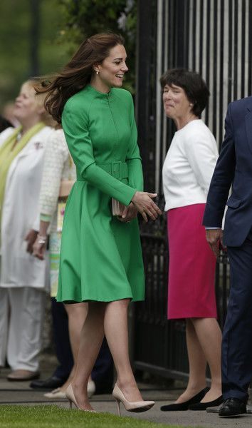Catherine, Duchess of Cambridge arrives at Chelsea Flower Show press day at Royal Hospital Chelsea on May 23, 2016 in London, England. The show, which has run annually since 1913 in the grounds of the Royal Hospital Chelsea, is open to the public from 24-28 May.