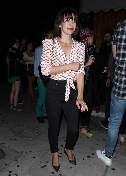 Milla Jovovich is seen leaving The Nice Guy restaurant in West Hollywood.