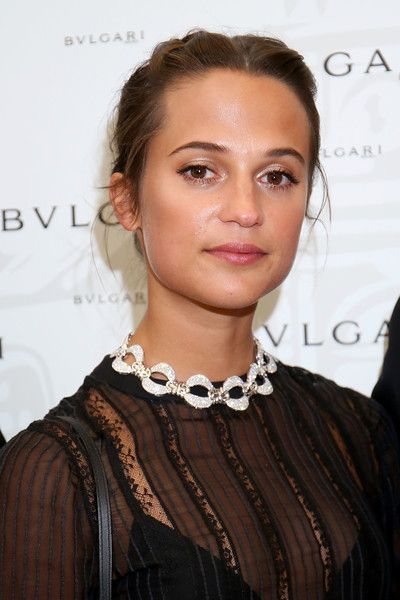 Alicia Vikander attends the Bvlgari Tribute to Spanish Steps Opening Event in Rome, Italy.