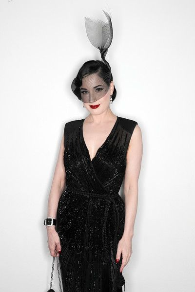 Dita Von Teese poses for a portrait during amfAR Milano 2016 at La Permanente on September 24, 2016 in Milan, Italy.