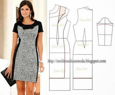 Платье комбинированное своими руками 71