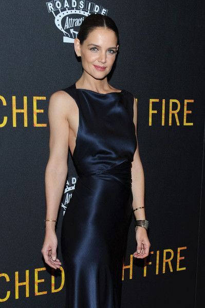 Katie Holmes attends the 'Touched with Fire' New York Premiere.