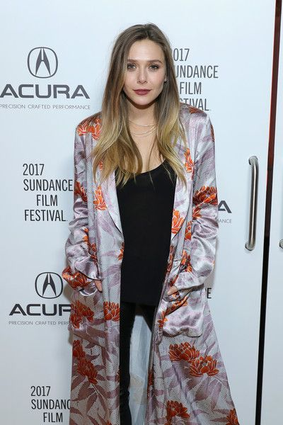 Actress Elizabeth Olsen attends the 'Wind River' party at the Acura Studio at Sundance Film Festival.