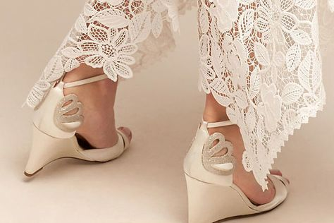 The Perfect Bridal Wedges - Wedding Wedges We Love - Photos