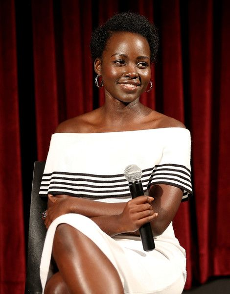 Lupita Nyong'o attends The Academy Of Motion Picture Arts And Sciences Hosts An Official Academy Screening Of QUEEN OF KATWE at MOMA - Celeste Bartos Theater on September 25, 2016 in New York City.