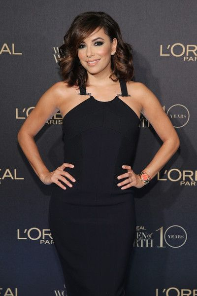 Actress Eva Longoria attends the L'Oreal Paris Women of Worth 2015 Celebration - Arrivals at The Pierre Hotel on December 1, 2015 in New York City.